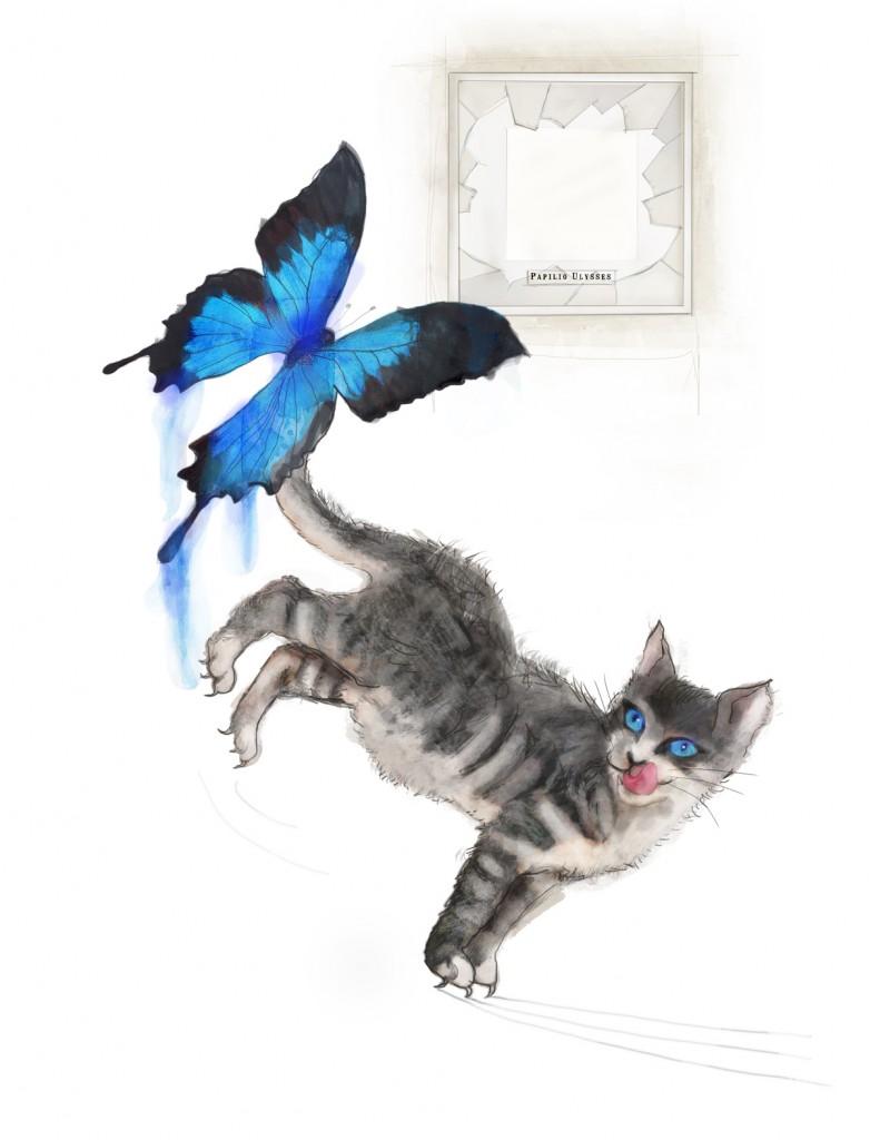 Stormenderland - Vlinder en poes