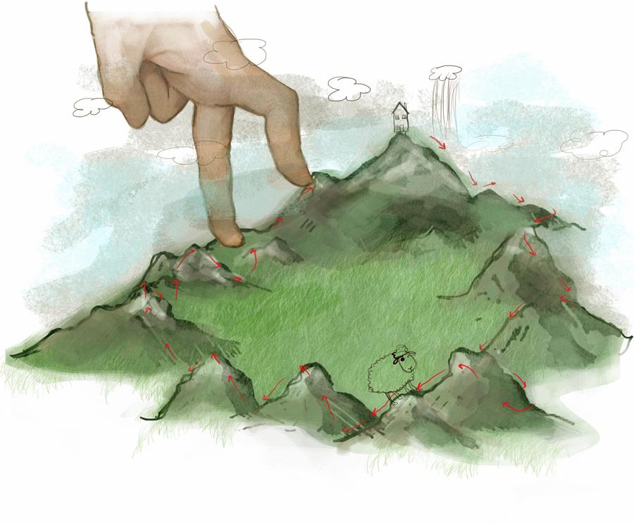 Stormenderland - Stomme bergwandeling